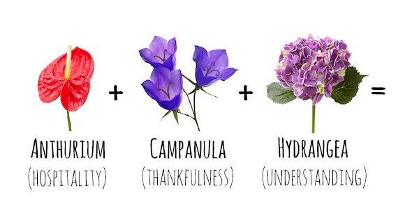 Flower Meanings  Anthurium   Campanula   Hydrangea