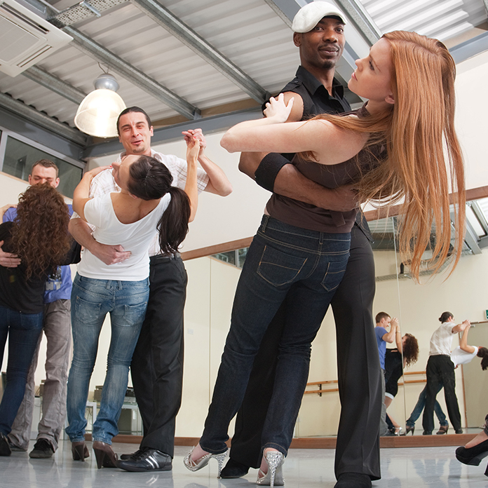 Group in a dance class