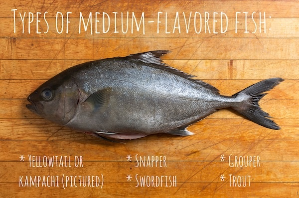 medium flavored fish
