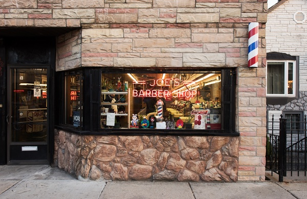 Barber shop storefront