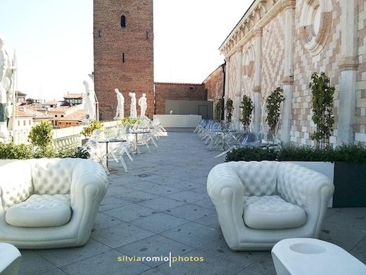 La terrazza della Basilica Palladiana a Vicenza