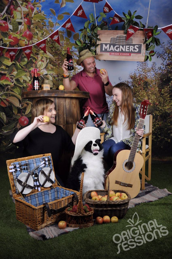Blogger Ann Nugent photobooth at Magners Original Session