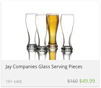 deal widget beer glasses