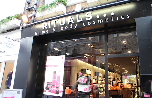 The exterior of Rituals Home and Body Cosmetics
