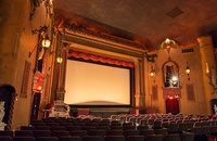 Large movie theater screen