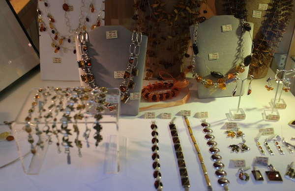 Jewellery from the Amber Centre in St Christopher's Place