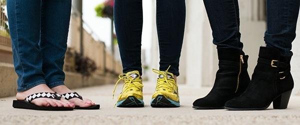 high heels and flip flops