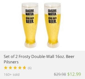deal widget pilsner glass 340c317