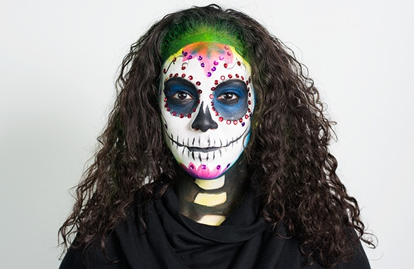 this halloween become a day of the dead sugar skull