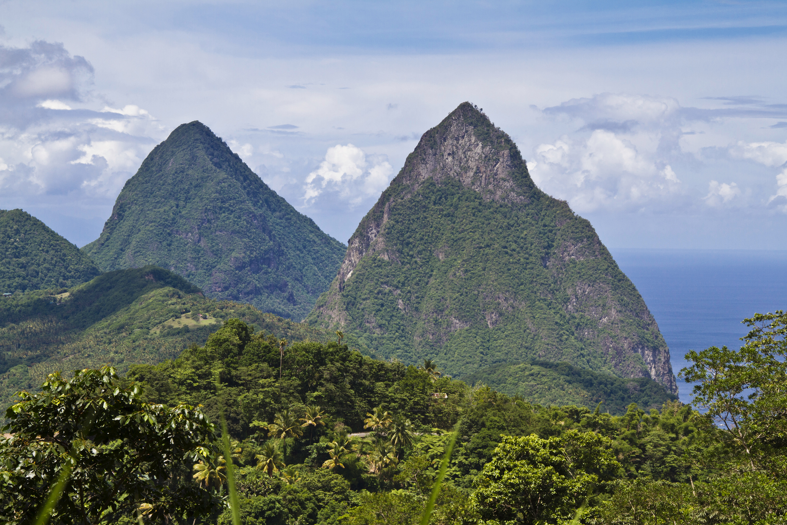 Hike a Pair of Volcanic Plugs in St. Lucia