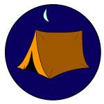 Camping badge 150c150