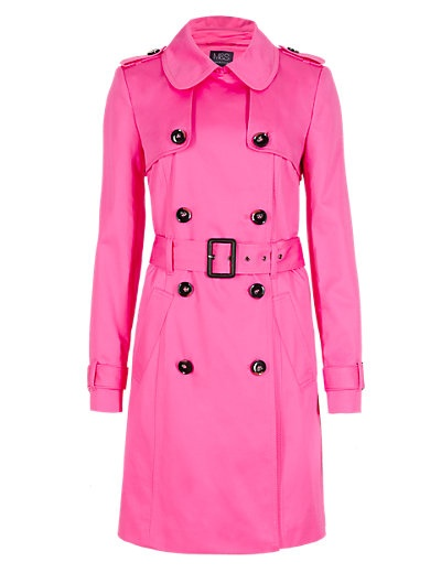 M S pink coat