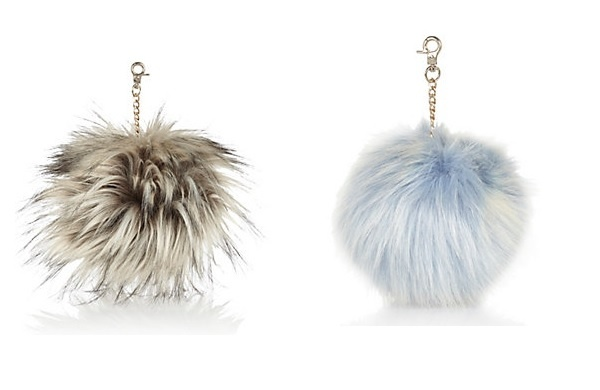 fake fur keyrings