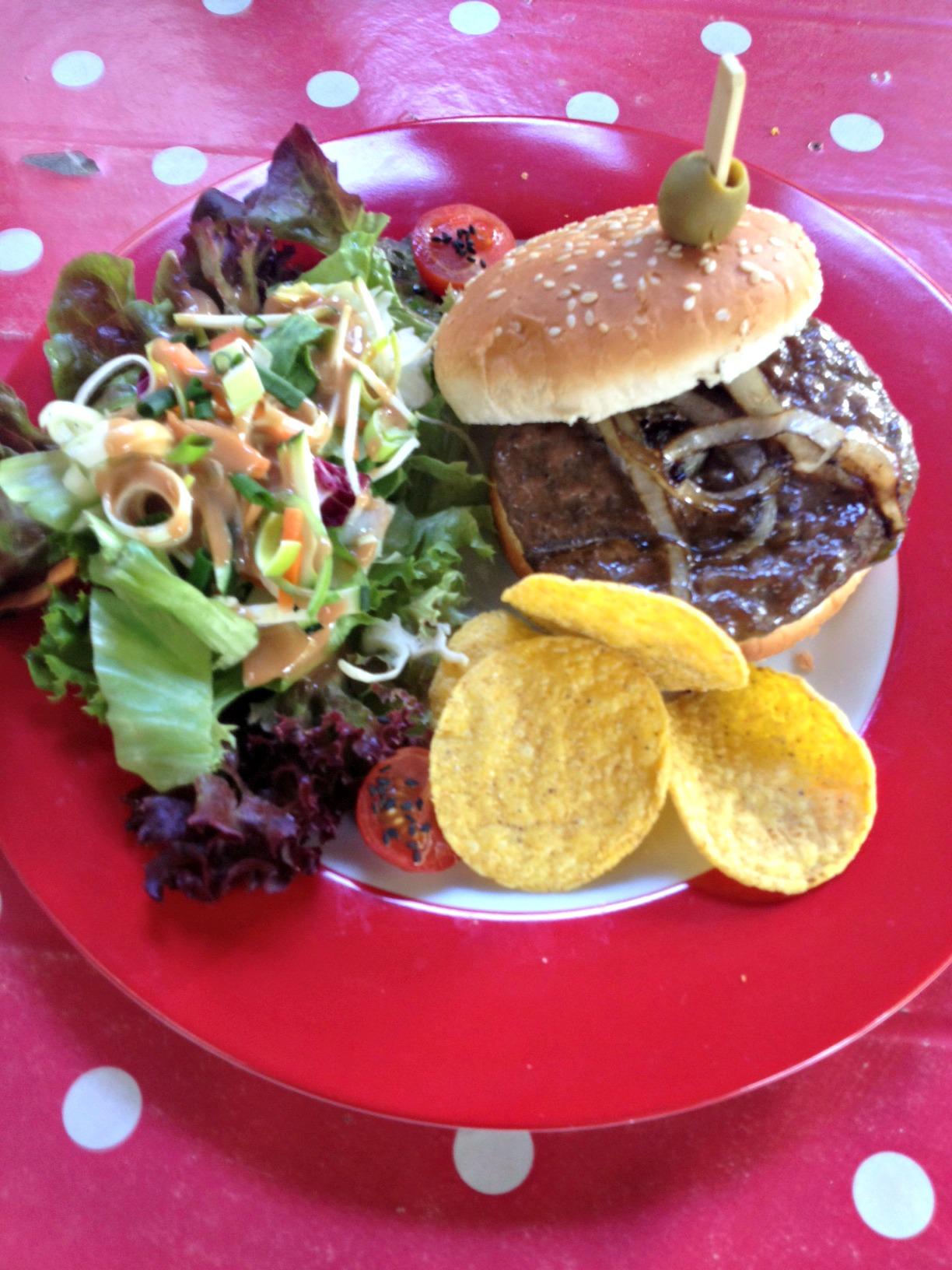 Tiki Heart Burger Lemmy in Jack Daniels gebraten