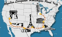 European Monuments in the US Road Trip