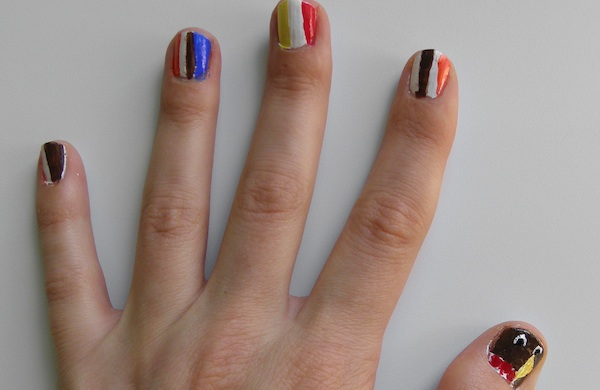 Miss Making Hand Turkeys? Try This Nail Art.
