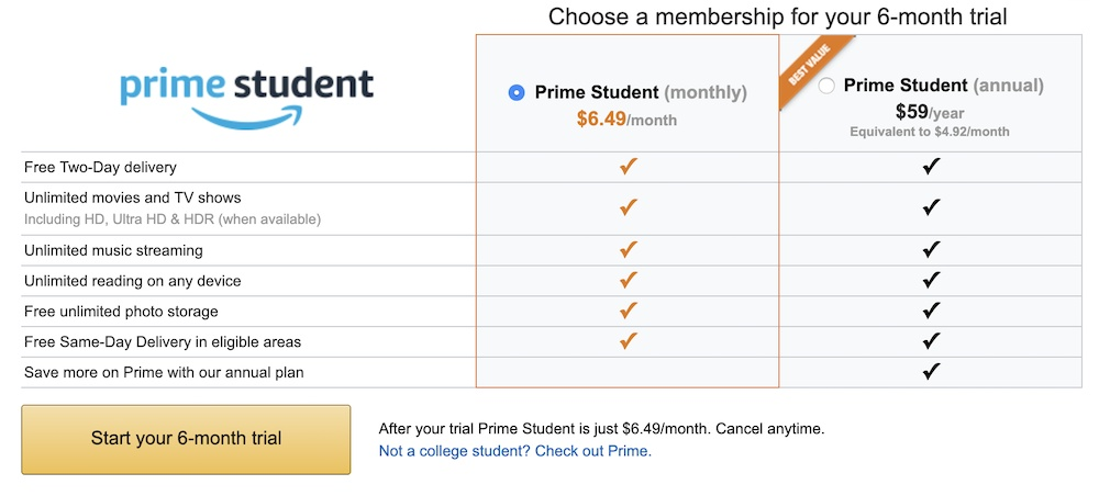Deal for over 50% off Amazon Prime membership, found on Groupon