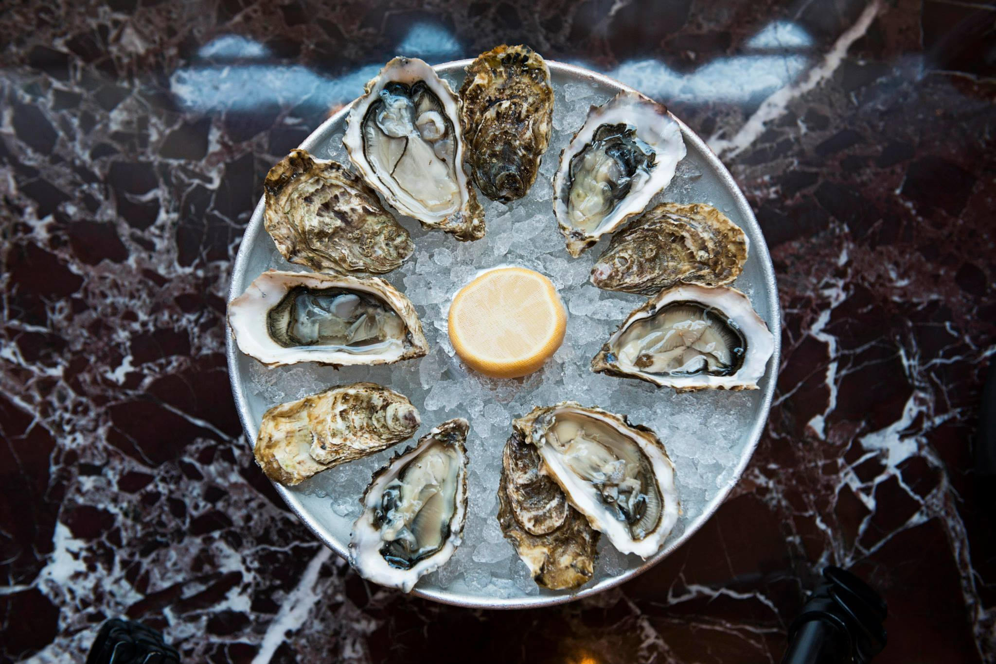 Oysters at Brasserie Zedel, Piccadilly
