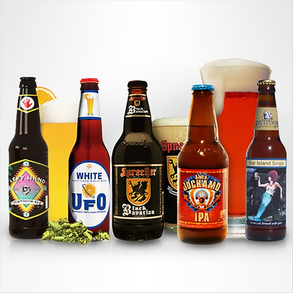 selection of beer from Beer of the Month subscription