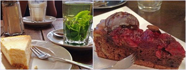 Auch leckeren Kuchen bekommt man bei Jules Coffee