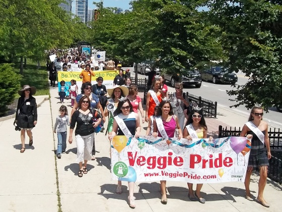Walking for the Animals at the Chicago Veggie Pride Parade