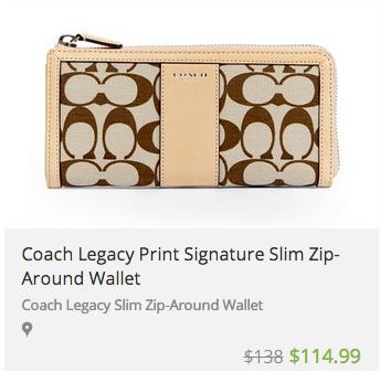 deal widget coachpurse