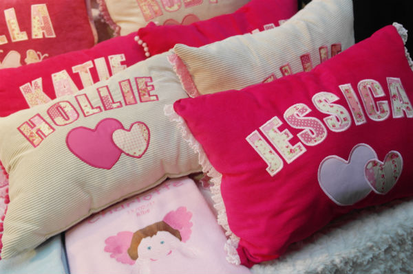 Personalised Cushions from Sew Personal at St. George's Market in Belfast