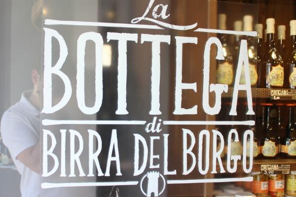 La bottega di Birra del Borgo a Roma