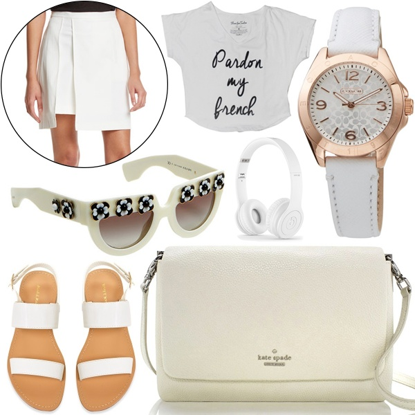 white clothes collage