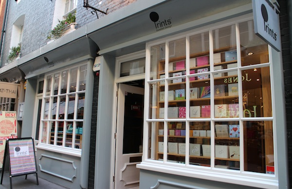 The exterior of Prints in St Christopher's Place