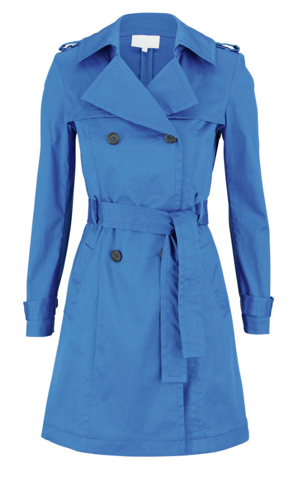 Blue trench coat from Littlewoords