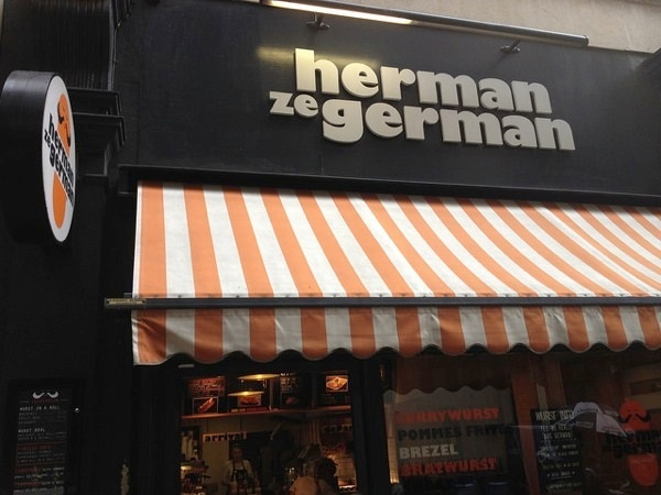 hot dogs london - herman ze german