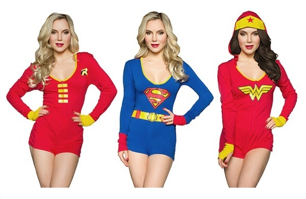 Sexy superhero pajamas