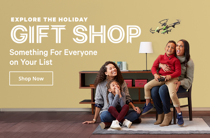 Explore the holiday gift shop!