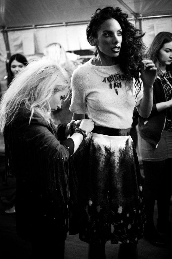 Sara O Neill backstage