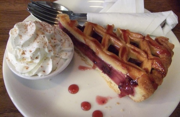 cherry tart in accents cafe in dublin