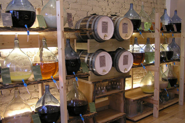 Alcohol Display at Demijohn