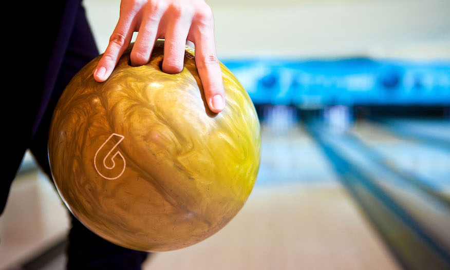 Bowling ball close-up