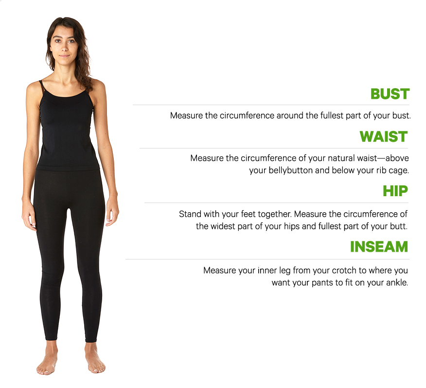 women's measuring guidelines