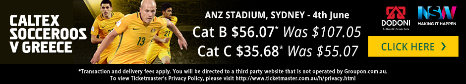 Caltex Socceroos v Greece Tickets