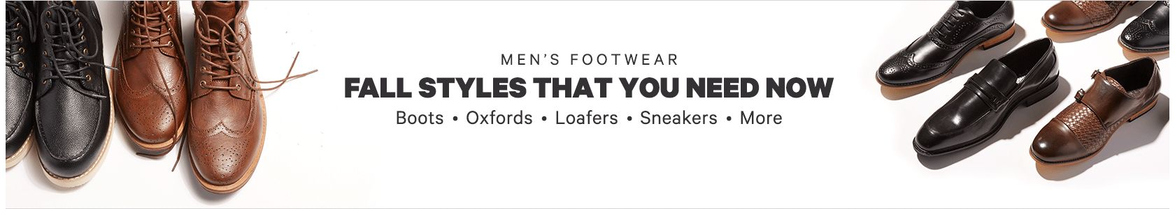 Men's Fall Footwear
