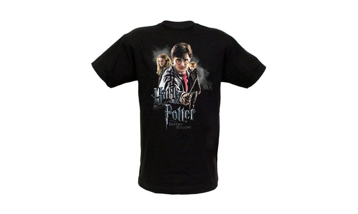 Warner Bros. Men's Harry Potter and the Deathly Hallows Cast T-Shirt