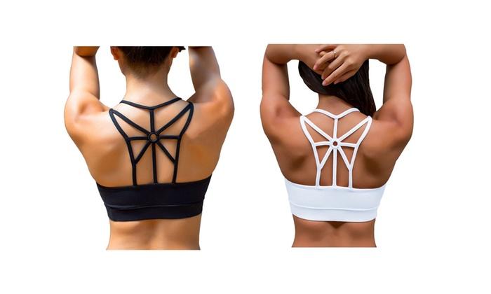 847c1620d00 Women s Sports Bra Criss Cross Strap High Impact Support Yoga Bra ...
