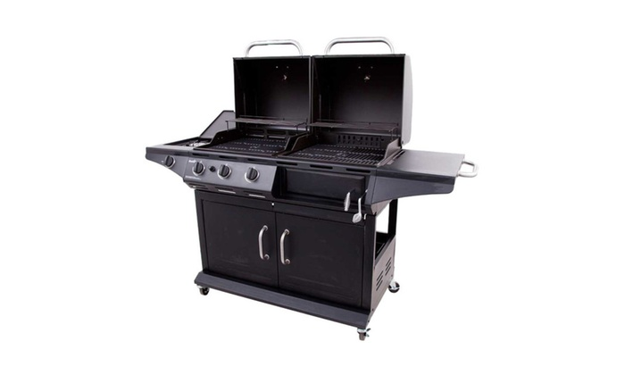 Char Broil 505 Sq In Charcoal Gas Combo Grill 1010 Deluxe