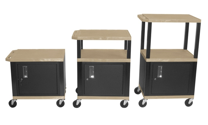 h wilson stainless steel rolling utility cart with locking cabinet - Rolling Utility Cart