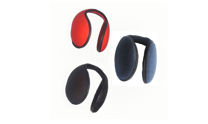 6-Pack Breathable Foldable Fleece Unisex Earmuffs