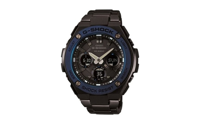 Casio G Shock G Steel Black Pvd Stainless Steel Mens Watch Groupon