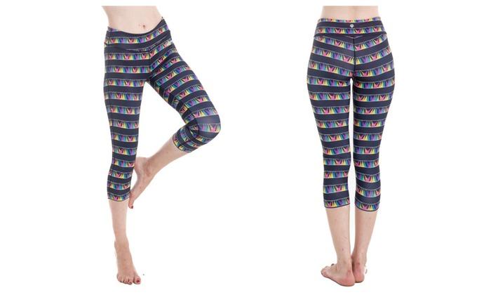 Yoga Capris for Women; High Waist Fitness Sports pants; Leggings