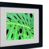 Kathie McCurdy 'Tropical Leaf' Matted Black Framed Art