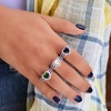 Crystal Heart Halo Ring in Sterling Silver Made With Swarovski Elements